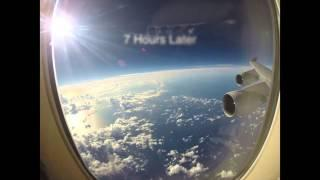 Flight Time Lapse San Francisco to Hong Kong in 2 minutes GoPro
