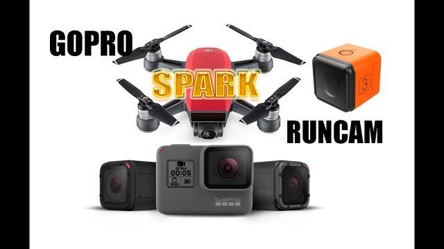 DJI SPARK Camera vs GOPRO and RUNCAM
