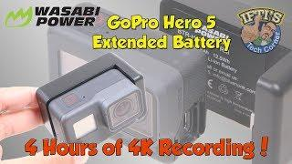 4 Hours of 4K Recording from a GoPro Hero 5! - Wasabi Hero 5 Extended Battery Review!