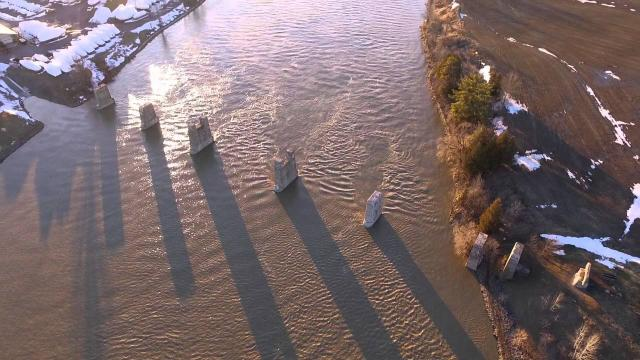 DRONE PHOTOGRAPHY - Invisible CN Railway Bridge - Jessup's Falls - South Nation River - DJI Phantom