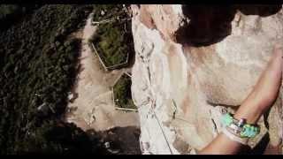 Rock Climb Fall GoPro.